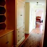 Hallway to a bedroom at the house at Gaie Lea