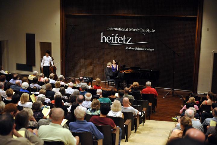 A performance at the Heifetz Music Institute in Staunton, Virginia